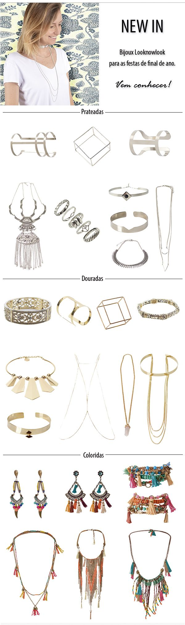 Get the Look - Bijoux   Acessórios Looknowlook Get the Look   Jessica Alba #moda #look #acessórios #bijoux #gipsy #boho #minimalista #getthelook #inspiração #looknowlook