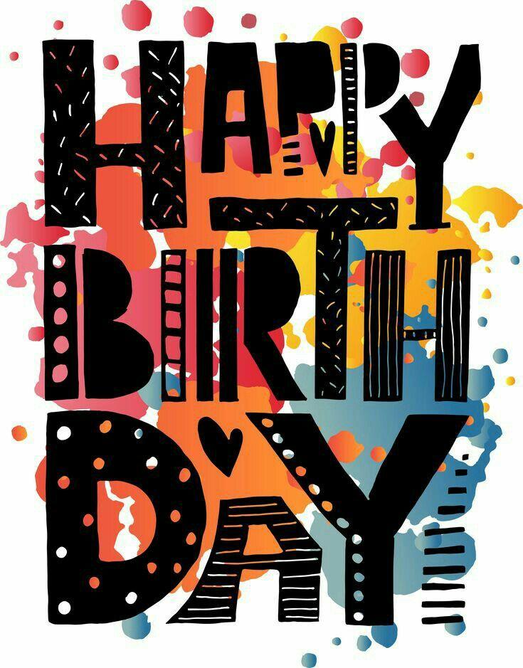 Happy Birthday . black . o.k. for man Happy birthday
