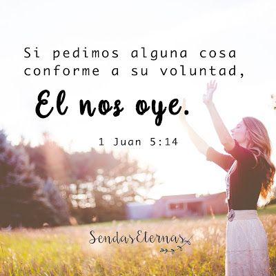 """Donde encontrar ayuda en la Palabra de Dios en caso de estar... EN ORACIÓN   """"Y esta es la confianza que tenemos en El, que si pedimos alguna cosa conforme a su voluntad, El nos oye."""" 1 Juan 5:14  https://sendaseternas.blogspot.com.es/2017/05/donde-encontar-ayuda-en-la-palabra-de.html  #Versiculobiblico #Biblia #Dios #Padre #Oración #Sendaseternas"""