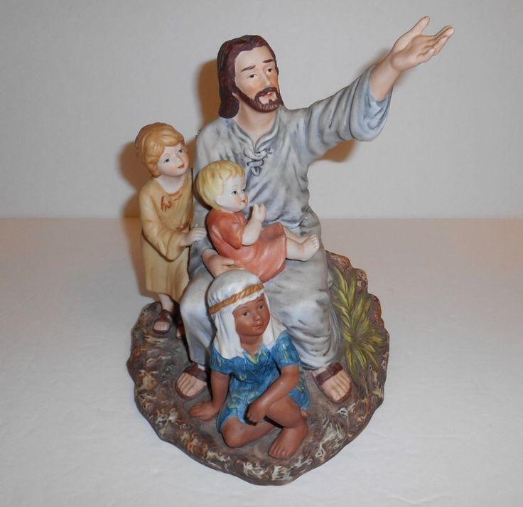 1989 Masterpiece Porcelain Homco Jesus Come Unto Me