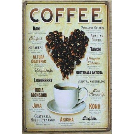 coffee #deco plaque metal
