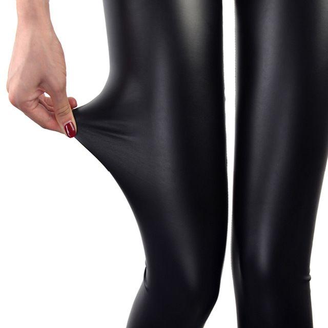Leggings de Cuero de imitación Azul Marino Mujeres Sexy Leggins Negro Delgado Leggings Calzas Mujer Leggins Leggins Leggings Plus Size Push Up