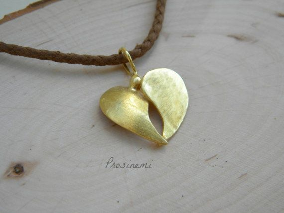 Double heart bronze neclace heart pendant  heart by prosinemi, €16.00