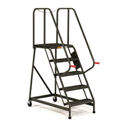 5 Step Rolling Maintenance Mechanics Ladders Grip Strut Steps Work Platforms Ladder Safety Ladder