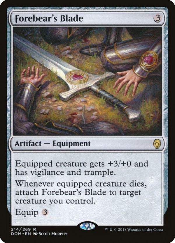 1x FOIL Forebear/'s Blade Near Mint Magic card artifact equipment cube Dominaria