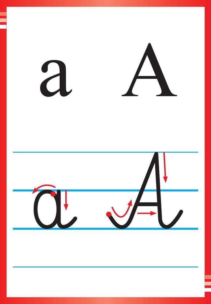 Alfabet polski, pisany dla dzieci do druku 1