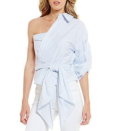 Gianni Bini Jessa One Shoulder Blouse #Dillards