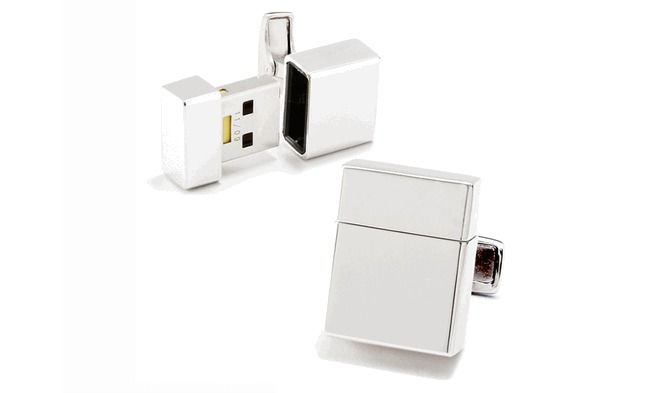 USB cufflinks... me want!