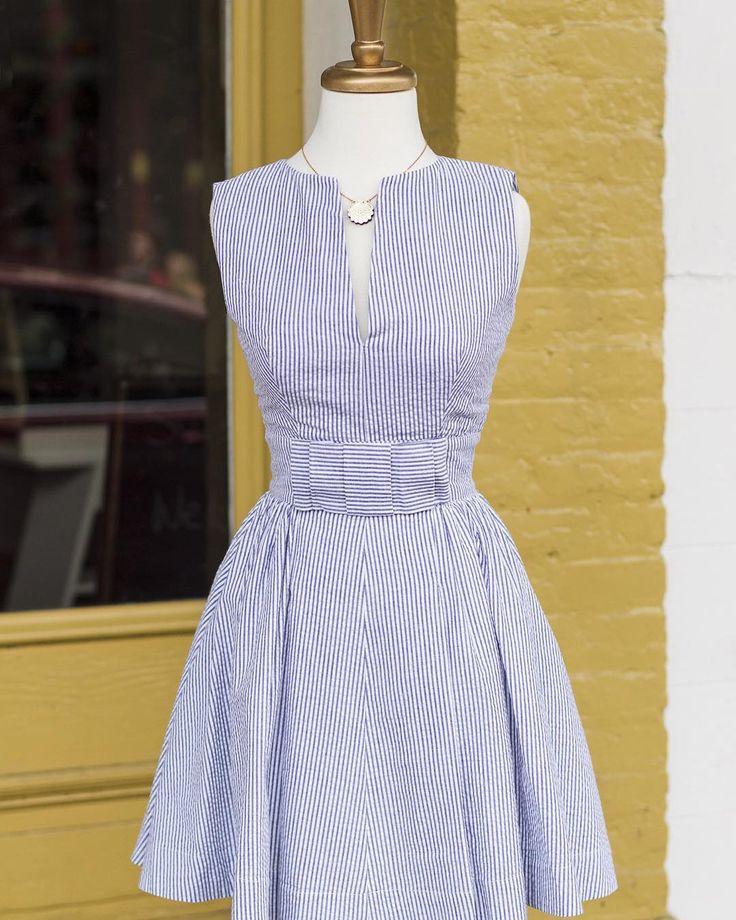 The Divas are loving the new Seersucker Bitsy Belle Dress (sizes 0-22, $163)!
