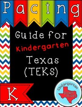 NEW! Texas TEKS Kindergarten Pacing Guide! Great for New Teachers or Teachers New to Grade Level! Back to School | TEKS Pacing Guide | Kindergarten TEKS