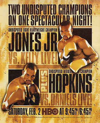"""paperink id: ads150 Roy Jones Jr. vs. Glen Kelly HBO Champion Boxing Match Game 2002 AD ORIGINAL PERIOD Magazine Advertisement measuring approximately 9.75"""" x 12"""" AD is in Very Good Condition as shown"""