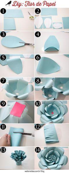 Veja o passo a passo e todos os segredinhos de como fazer as famosas flores de papel que estão super em alta!