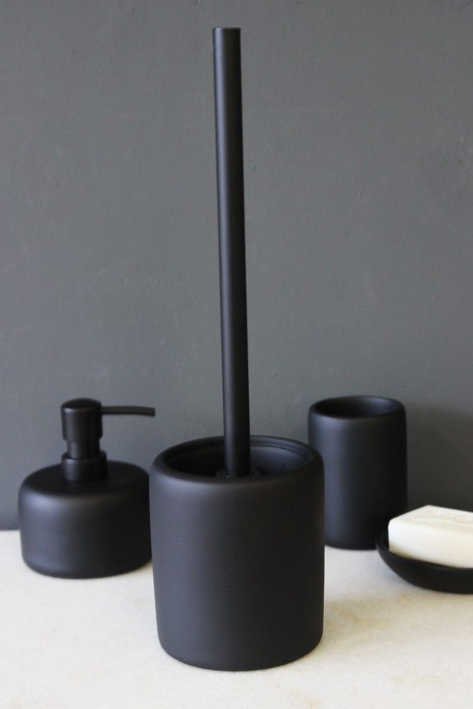 black toilet brush holder bathroom accessories home accessories - Bathroom Accessories Dubai