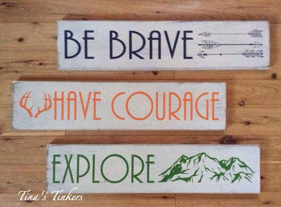 Ser valiente. Tener valor. Explorar. Bosque vivero por TinasTinkers