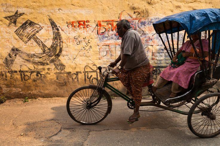 Symbol, Kolkata | Street scene of a cycle rickshaw in a street  near Kalighat…