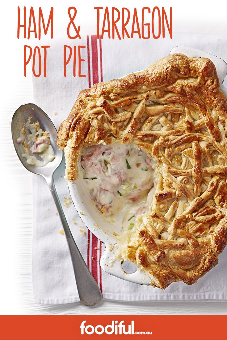 This is a hassle-free family pot-pie. Using puff-pastry as a topping, and stuffed with ham hock and a creamy sauce, it's a winter-time comfort. It takes only 55 mins and serves 4 people.