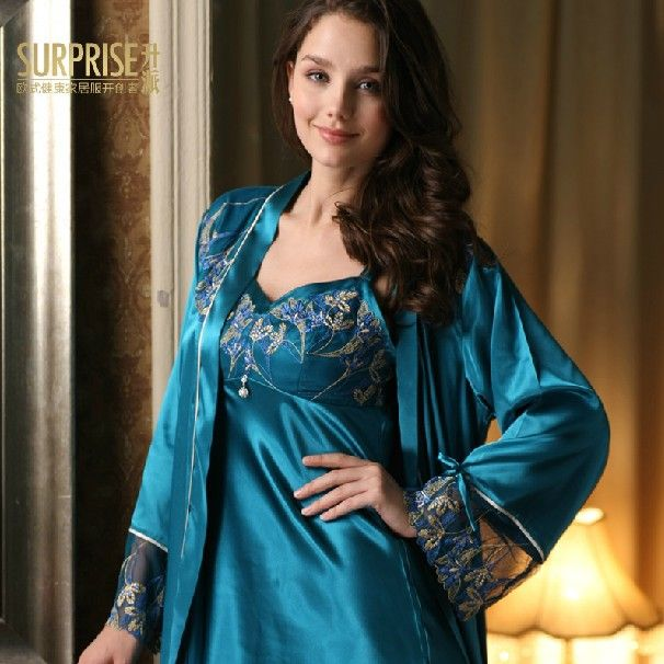 Dressing Gowns For Women: Top Quality Twinset 2013 Summer Women's Pajamas Sets Satin