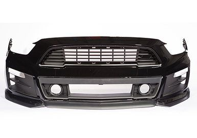 THE 2015-2016-2017 COMPLETE ROUSH MUSTANG FRONT FASCIA KIT          Give the 6th gen Mustang a more aggressive, performance oriented look. The completely re-designed fascia improves airflow into the engine bay and around the wheels. Each part has been designed, engineered and manufactured in the USA at ROUSH's own facilities using the same materials and processes as the big OEM's