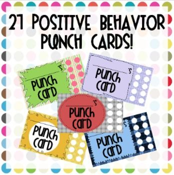 Visual reinforcement for behavior is always best and these punch cards are a fun, easy way to encourage your students to show appropriate behavior.You can print them as many to a page if you want!