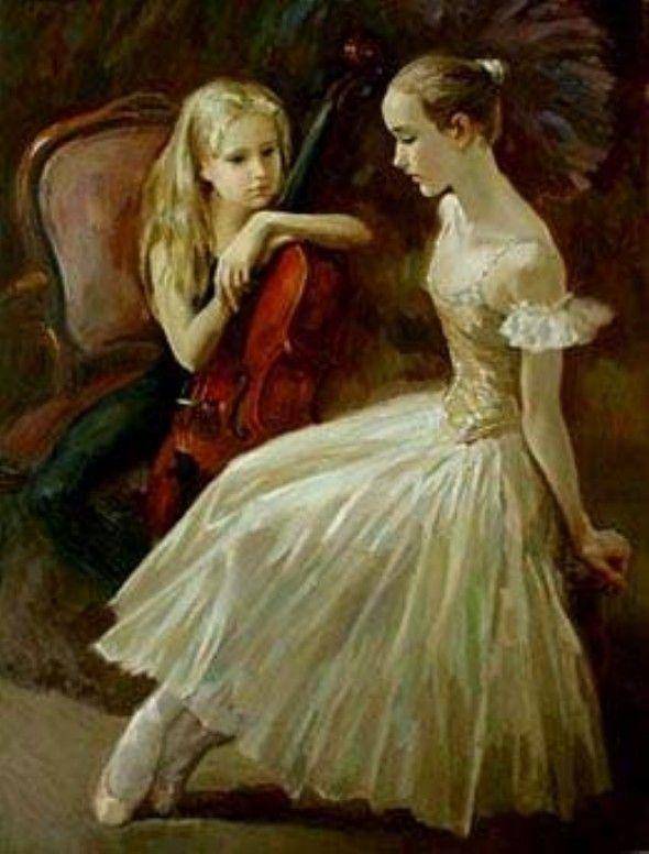 Valery Kosorukov (1937-), ruso,Ruský Edgar Degas