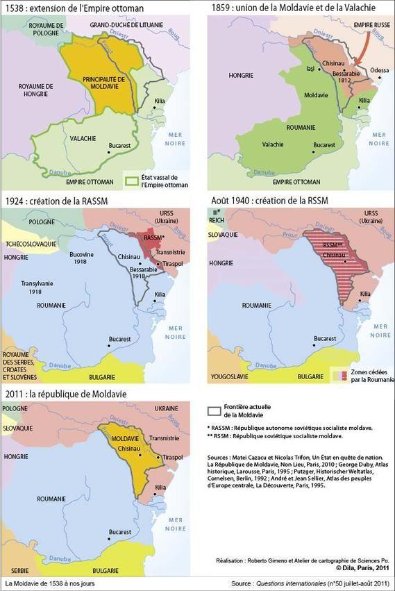 La Moldavie de 1538 à nos jours ⍢ < 1750...
