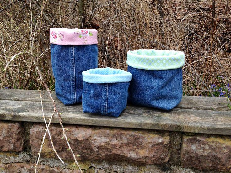 Anette L syr och skapar: Påsar av gamla jeans