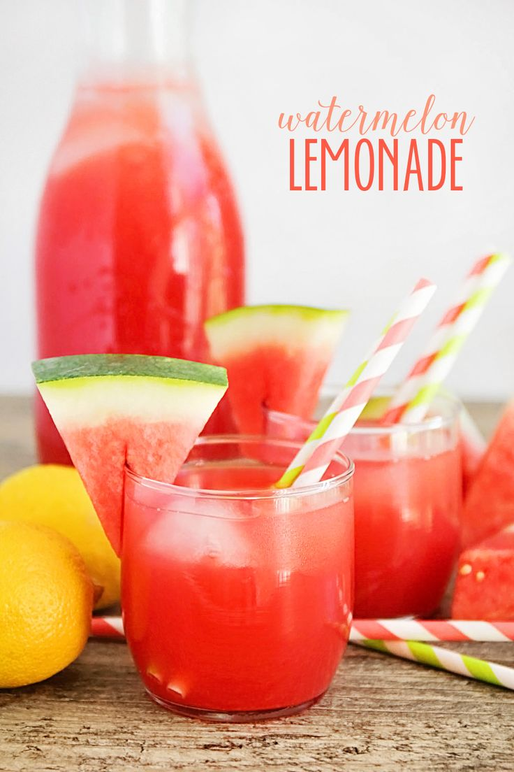 This watermelon lemonade is incredibly refreshing and only four ingredients. The perfect way to keep cool all summer long!