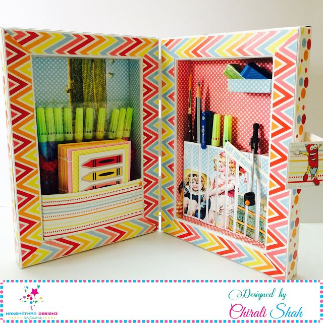 Hello people. I am back with a brand new post of A Pencil Box made with 'Priceless Treasures - Childhood Memories' paper pack. Whe...