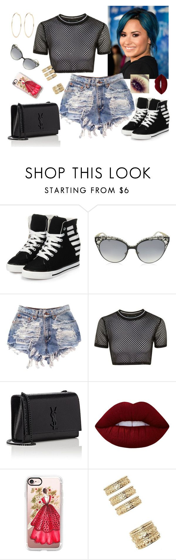 """Shopping with sister"" by anaritaferreira on Polyvore featuring moda, yeswalker, Jimmy Choo, Topshop, Yves Saint Laurent, Lime Crime, Casetify, Forever 21 e River Island"