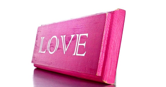 One wood decor plaque love bright pink wood home decor wall decor destination wedding Home decor survivor 6