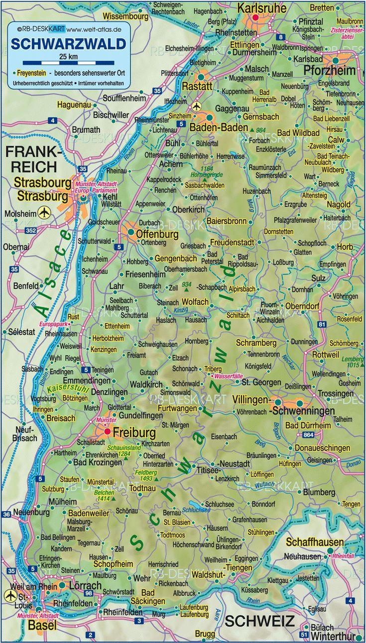 ettlingen germany | Map of Black Forest (Germany, Baden-Wuerttemberg) - Map in the Atlas ...