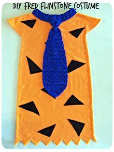 Easy DIY Flinstone Costume