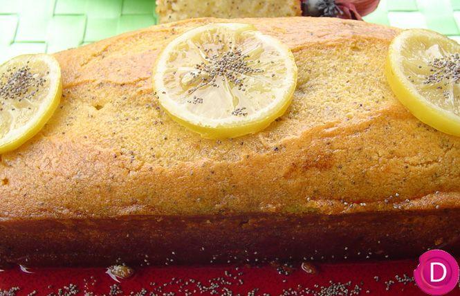 Κέικ λεμονιού σιροπιαστό με παπαρουνόσπορο