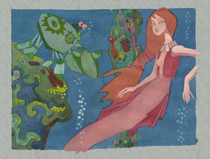 Disney Concept Art to Brighten Your Day || the little mermaid