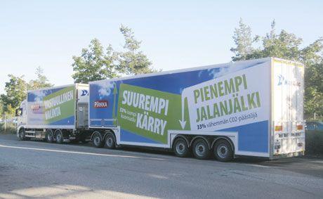 Biggger trailer, lower carbon dioxide footprint