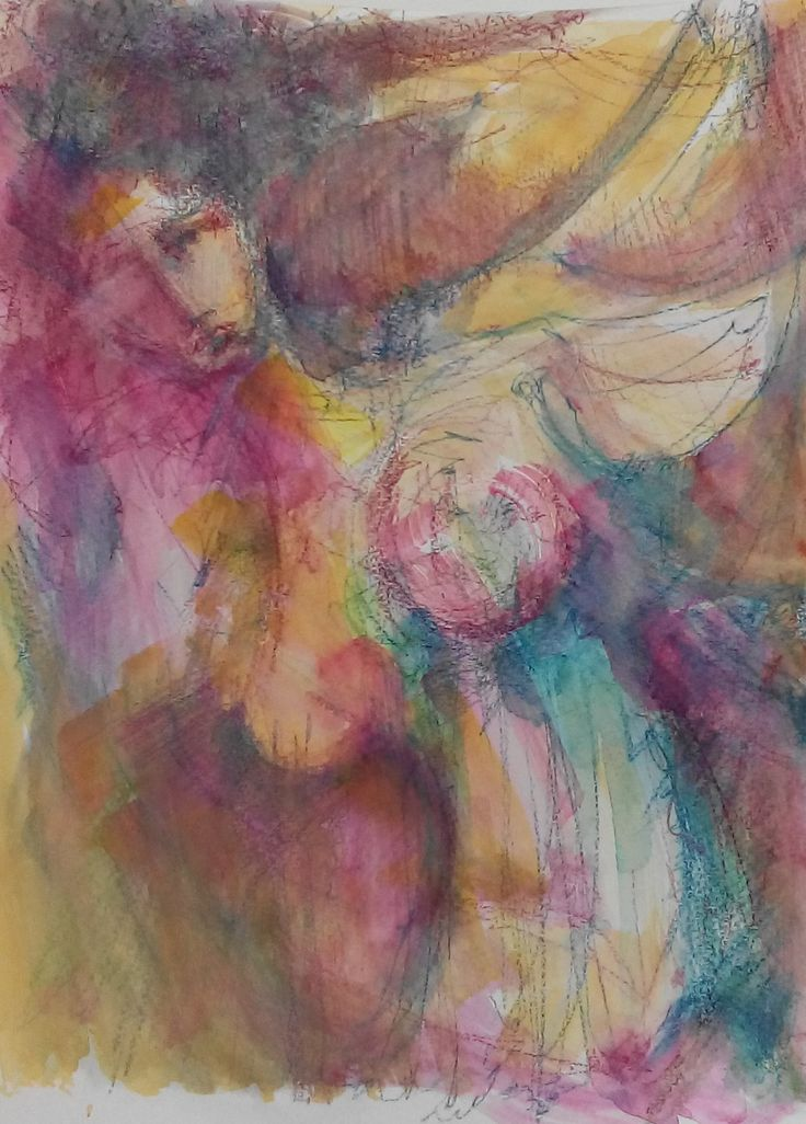 Everlasting song, watercolour, paper.