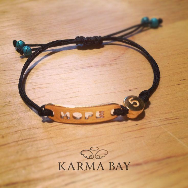 Black #Hope #Bracelet for the New #Year  https://www.facebook.com/KarmaaBay
