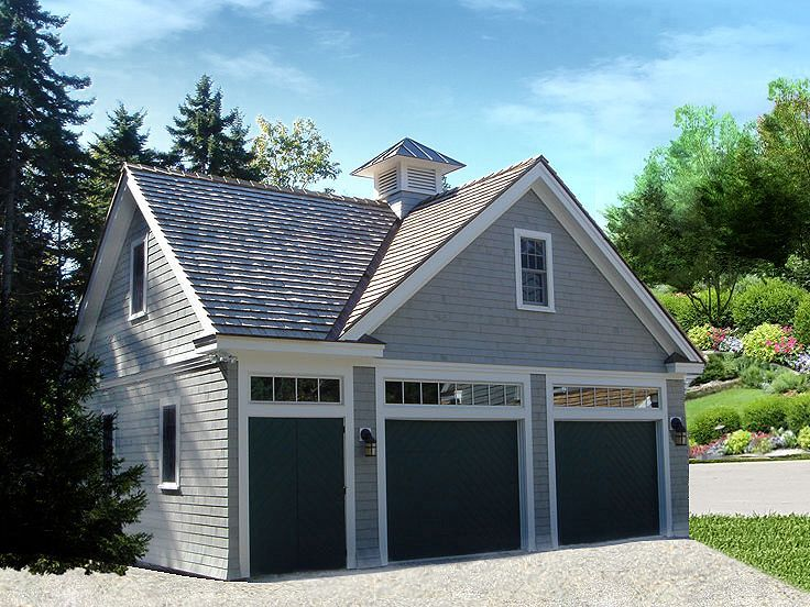 009g 0016 Two Car Garage Plan With Loft And Golf Cart Storage Garage Addition Garage Floor Plans Garage Plans With Loft