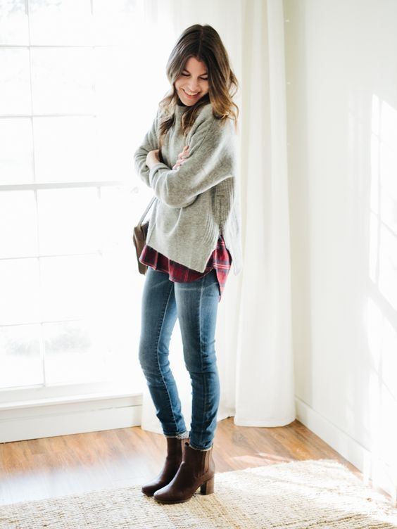 One of the best things about dressing for winter weather are all of the layering opportunities. There are so many different ways to layer your clothes, and what's great about it is that each different way can make a particular item look totally different. Figuring out how to layer a sweater, say, five different ways is much more interesting than just pairing said sweater with jeans and boats and calling it a day.