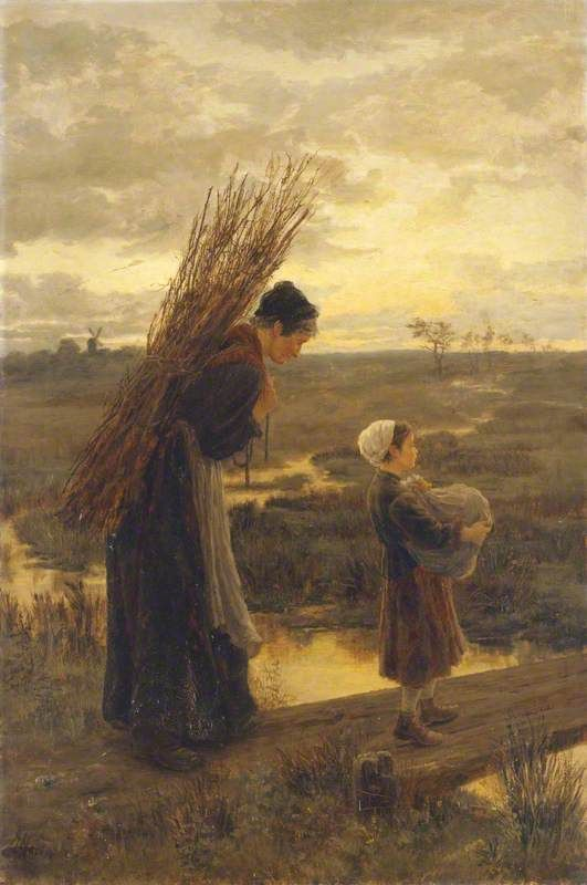 They Homeward Wend Their Weary Way (1875) - Alice Mary ...