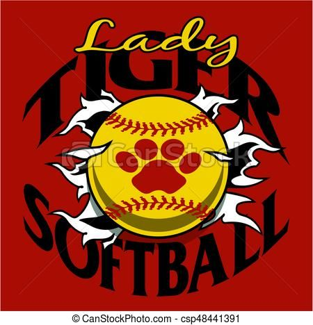 Vector - lady tiger softball - stock illustration, royalty free illustrations, stock clip art icon, stock clipart icons, logo, line art, EPS picture, pictures, graphic, graphics, drawing, drawings, vector image, artwork, EPS vector art