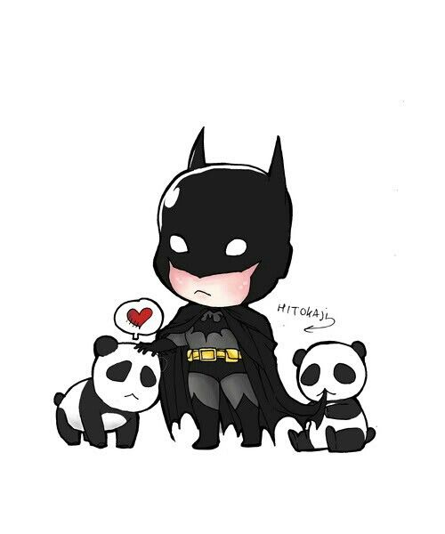 Chibi Batman and Panda. TWO of my favorite things.