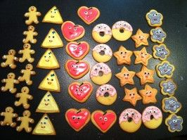 Shortbread Sugar Cookies With Icing. Photo by Kathyaopp