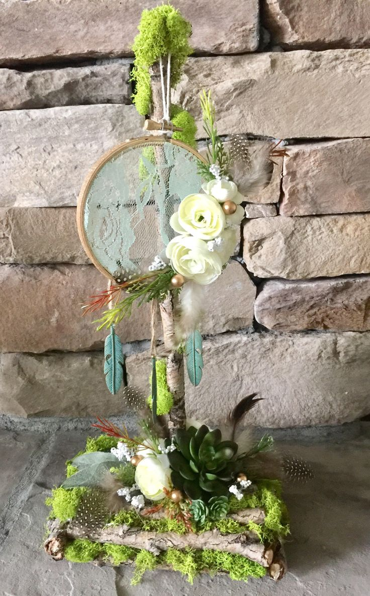 Dream Catcher Driftwood Centerpiece Boho Baby Wedding