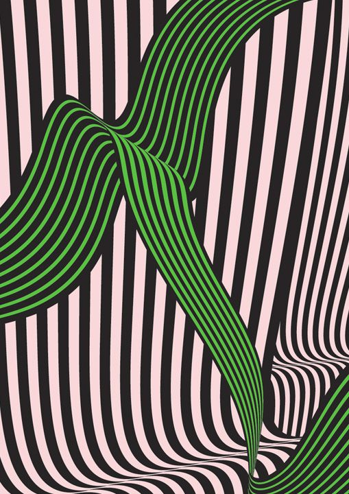 green and black lines