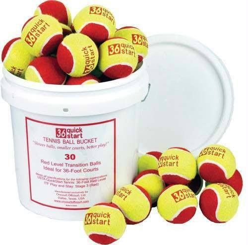 Quick Start 36 Tennis Balls (Bucket of 30 Balls)