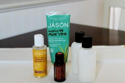 DIY all natural hand sanitizer using essential oils!