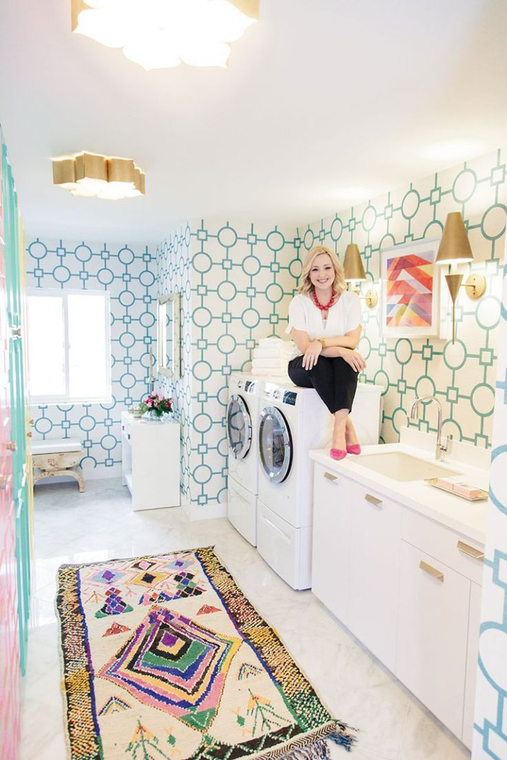 Our Colorful Laundry Room Inspired By Palm Springs Doorsla