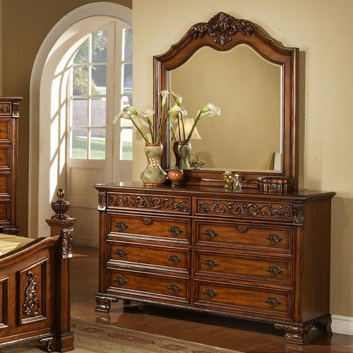 Cherry Dresser Mirror Set And Bedroom Sets On Pinterest