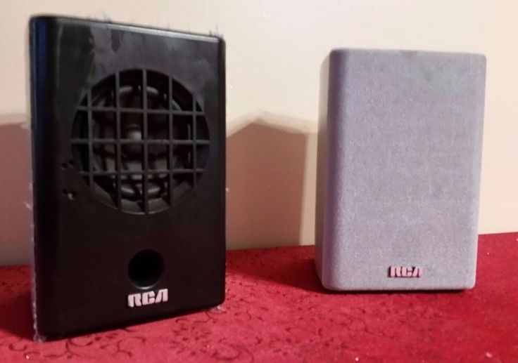 RCA HOME THEATER SPEAKERS RT2350 TESTED (Lot of 2) #RCA